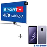 Smart TV 4K Samsung LED 65, Connect Share - UN65MU6400GXZD + Galaxy A8 Lilas 5,6, 4G, 64GB e 16MP - SM-A530FZVKZTO