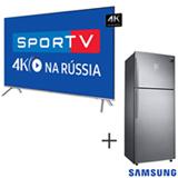 Smart TV 4K Samsung LED 65 UN65MU7000GXZD + Refrigerador de 02 Portas Frost Free com 453 Litros Inox 220V - RT46K6361SL