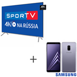 Smart TV 4K Samsung LED 65 - UN65MU7000GXZD + Galaxy A8 Lillas, 5,6, 4G, 64GB e 16MP - SM-A530FZVKZTO