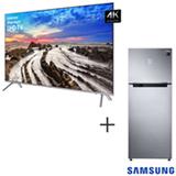 Smart TV 4K Samsung LED 65 com HDR 1000 e Wi-Fi + Refrigerador de 02 Portas Samsung Frost Free 453L Inox 110V