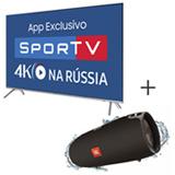 Smart TV 4K Samsung LED 65 com HDR 1000 e Wi-Fi + Caixa de Som Bluetooth JBL com Potencia de 40W Preto