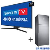 Smart TV 4K Samsung LED 75 UN75MU6100GXZD + Refrigerador de 02 Portas Frost Free com 453 Litros Inox 220V - RT46K6361SL