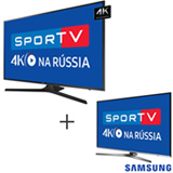 Smart TV 4K Samsung LED 75 HDR Premium - UN75MU6100GXZD + Smart TV 4K Samsung LED 49 com HDR Premium - UN49KU6450GXZD