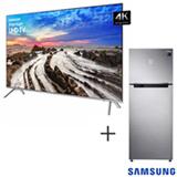 Smart TV 4K Samsung LED 82 com HDR 1000 e Wi-Fi + Refrigerador de 02 Portas Samsung Frost Free 453L Inox 110V
