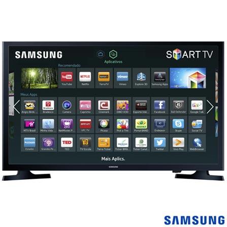 Smart TV Samsung LED HD 32 com Modo Futebol e Wi-Fi - UN32J4300AGXZD, Bivolt, Bivolt, Preto, Não, 60 Hz, 12 meses, HD, Sim, De 26'' a 39'', 32'', LED