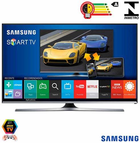 Smart TV Samsung LED Full HD 40 com Funcao Game, Quick Connect e Wi-Fi - UN40J5500AGXZD, Bivolt, Bivolt, Preto, Não, 60 Hz, 12 meses, Full HD, Sim, De 40'' a 49'', 40'', LED