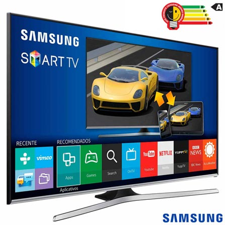 Smart TV Samsung LED Full HD 40 com Funcao Game, Quick Connect e Wi-Fi - UN40J5500AGXZD, Bivolt, Bivolt, Preto, Não, 60 Hz, 12 meses, Full HD, Sim, De 40'' a 49'', 40'', LED