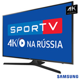 "Smart TV 4K Samsung LED 40"" com Smart Tizen e Wi-Fi - UN40MU6100GXZD"