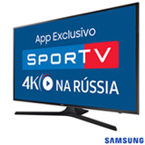 "Smart TV 4K Samsung LED 40"" com Smart Tizen e Wi-Fi - UN40MU6100GXZD"