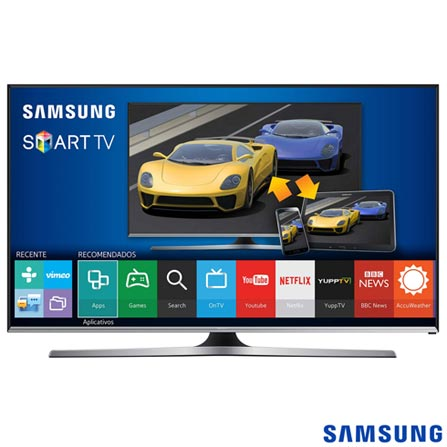 Smart TV Samsung LED 48 com Smart View 2.0, Quick Conect e Wi-Fi - UN48J5500AGXZD, Bivolt, Bivolt, Preto, Não, 60 Hz, 12 meses, Full HD, Sim, De 40'' a 49'', 48'', LED