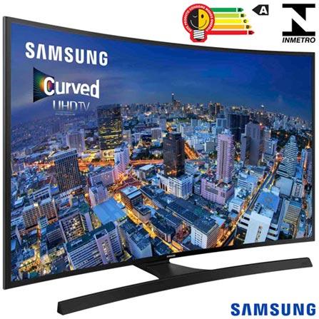 Smart TV 4K Samsung Curva LED 48 com Wi-Fi - UN48JU6700GXZD, Bivolt, Bivolt, Preto, Não, 240 Hz, 12 meses, 4K / UHD, Sim, De 40'' a 49'', 48'', LED