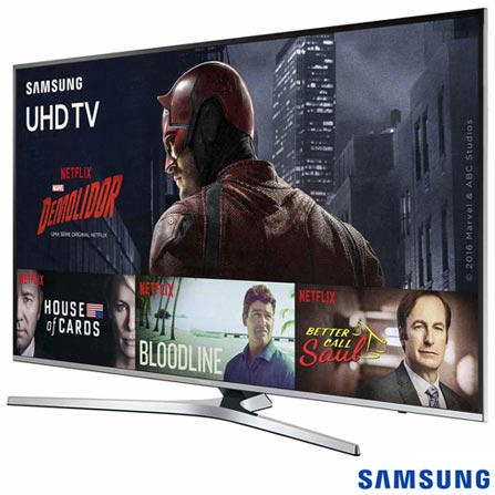 "Smart TV 4K Samsung LED 49"" com Processador Quad Core, HDR Premium, 120 Hz Motion Rate e Wi-Fi - UN49KU6400GXZD, Bivolt, Bivolt, Não se aplica, Não, 60Hz (Motion Rate 120Hz), 12 meses, 4K / UHD, Sim, De 40'' a 49'', 49'', LED"