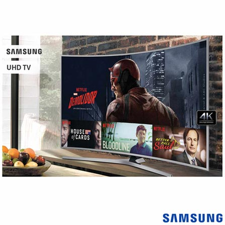 "Smart TV 4K Samsung Curva LED 49"" com HDR Premium, 120 Hz Motion Rate e Wi-Fi - UN49KU6500GXZD, Bivolt, Bivolt, Não se aplica, Não, 60Hz (Motion Rate 120Hz), 12 meses, 4K / UHD, Sim, De 40'' a 49'', 49'', LED"