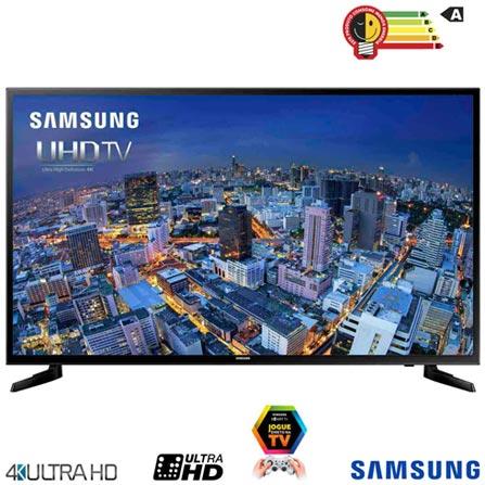 Smart TV 4K Samsung LED 55 com UHD Upscaling e Wi-Fi - UN55JU6000GXZD, Bivolt, Bivolt, Preto, Não, 120 Hz, 12 meses, 4K / UHD, Sim, De 50'' a 65'', 55'', LED