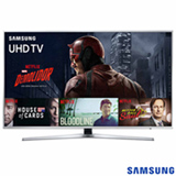 "Smart TV 4K Samsung LED 55"" com Processador Quad Core, HDR Premium, 120 Hz Motion Rate e Wi-Fi - UN55KU6400GXZD"