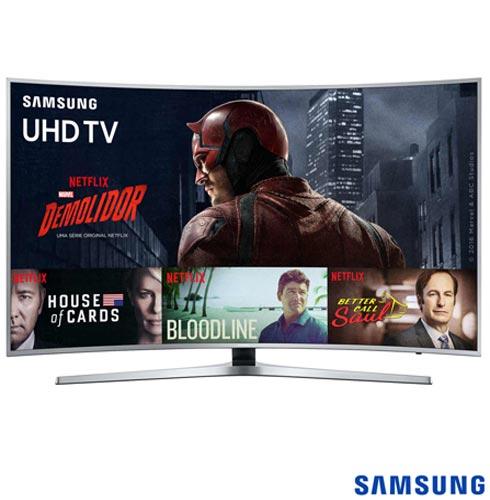 Smart TV 4K Samsung Curva LED 55 com HDR Premium, 120 Hz Motion Rate e Wi-Fi - UN55KU6500GXZD, Bivolt, Bivolt, Não se aplica, Não, 60Hz (Motion Rate 120Hz), 12 meses, 4K / UHD, Sim, De 50'' a 65'', 55'', LED