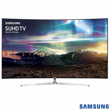 Smart TV SUHD 4K Samsung Curva LED 65 com Pontos Quanticos, HDR 1000, 240 Hz Motion Rate e Wi-Fi - UN65KS9000GXZD, Bivolt, Bivolt, Não se aplica, Não, 120Hz (Motion Rate 240Hz), 12 meses, 4K / UHD, Sim, De 50'' a 65'', 65'', LED com Pontos Quânticos