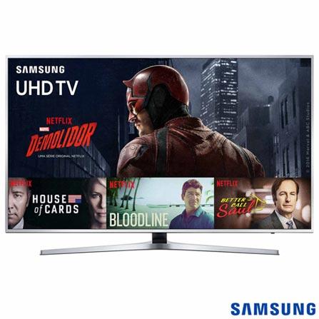"Smart TV 4K Samsung LED 65"" com Quad-Core, HDR Premium, One Control, Motion Rate 120 e Wi-Fi - UN65KU6400GXZD, Bivolt, Bivolt, Prata, Não, 60 Hz, 12 meses, 4K / UHD, Sim, De 50'' a 65'', 65'', LED"