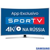 "Smart TV 4K Samsung Curva LED 65"" com HDR Premium, 120 Hz Motion Rate e Wi-Fi - UN65KU6500GXZD"