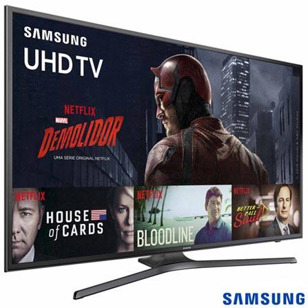 Smart TV 4K Samsung LED 70 com HDR Premium, 120 Hz Motion Rate e Wi-Fi - UN70KU6000GXZD, Bivolt, Bivolt, Não se aplica, Não, 60Hz (Motion Rate 120Hz), 12 meses, 4K / UHD, Sim, De 70'' a 105'', 70'', LED