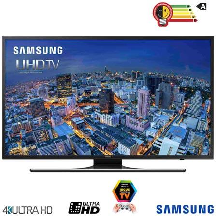 Smart TV 4K Samsung LED 75 com UHD Upscaling e Wi-Fi - UN75JU6500GXZD, Bivolt, Bivolt, Não se aplica, Não, 12 meses, 4K / UHD, Sim, De 70'' a 105'', 75'', LED