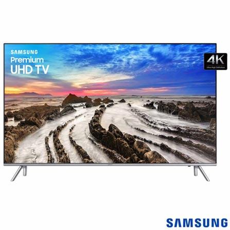 """Smart TV 4K Samsung LED 75"""" HDR 1000, Dynamic Crystal Color e Wi-Fi - UN75MU7000GXZD, Bivolt, Bivolt, Não se aplica, Não, 240 Hz, 12 meses, 4K / UHD, Sim, De 70'' a 105'', 75'', LED"""