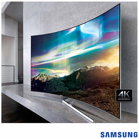 "Smart TV 4K Samsung Curva LED 78"" com Processador Quad Core, 240 Hz Motion Rate e Wi-Fi - UN78KS9000GXZD, Bivolt, Bivolt, Não se aplica, Não, 120Hz (Motion Rate 240Hz), 12 meses, 4K / UHD, Sim, De 70'' a 105'', 78'', LED"