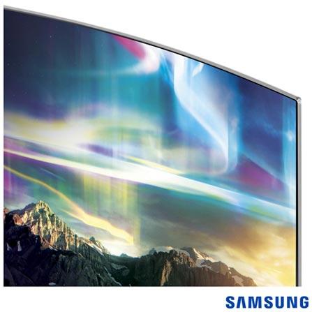 """Smart TV 4K Samsung Curva LED 78"""" com Processador Quad Core, 240 Hz Motion Rate e Wi-Fi - UN78KS9000GXZD, Bivolt, Bivolt, Não se aplica, Não, 120Hz (Motion Rate 240Hz), 12 meses, 4K / UHD, Sim, De 70'' a 105'', 78'', LED"""