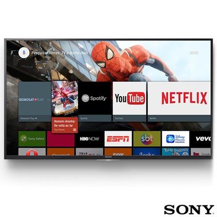 Smart TV 4K Sony LED 49 Motionflow XR 240, 4K HDR, UpScalling e Wi-Fi - KD-49X7005D, Bivolt, Bivolt, Preto, Não, Não especificado, 12 meses, 4K / UHD, Sim, De 40'' a 49'', 49'', LED