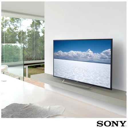 """Smart TV 4K Sony LED 55"""" Motionflow XR 240, 4K HDR, UpScalling e Wi-Fi - KD-55X7005D, Bivolt, Bivolt, Preto, Não, Não especificado, 12 meses, 4K / UHD, Sim, De 50'' a 65'', 55'', LED"""