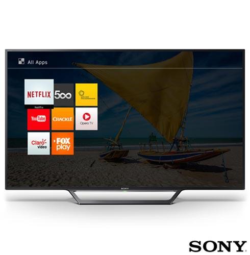 """Smart TV Sony LED HD 32"""" com Motionflow XR 240, X-Reality Pro, XProtection PRO e Wi-Fi - KDL-32W655D, Bivolt, Bivolt, Não se aplica, Não, 240 Hz, 12 meses, HD, Sim, De 26'' a 39'', 32'', LED"""