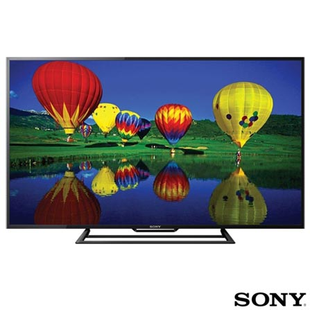 Smart TV Sony LED Full HD 48 com MotionFlow XR 120 e Wi-Fi - KDL-48R555C, Bivolt, Bivolt, Preto, Não, 60 Hz, 12 meses, Full HD, Sim, De 40'' a 49'', 48'', LED, LED