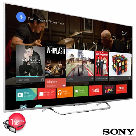 Smart TV 4K 3D Sony LED 65 com Android TV, X-Reality Pro 4K e Wi-Fi - XBR-65X855C, Bivolt, Bivolt, Prata, Sim, 12 meses, 4K / UHD, Sim, De 50'' a 65'', 65'', LED