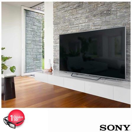 "Smart TV 4K 3D Sony LED 75"" Android TV com X-Reality Pro e Wi-Fi - XBR-75X855C, Bivolt, Bivolt, Prata, Sim, 12 meses, 4K / UHD, Sim, De 70'' a 105'', 75''"