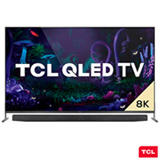 Smart TV TCL 8K QLED 75' com Dolby Vision, Google Assistant e Wi-Fi dual band e Bluetooth integrados - QL75X915