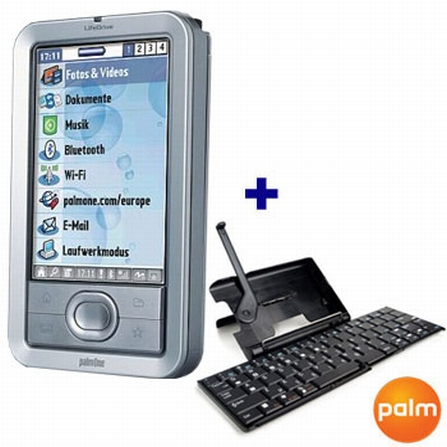 Palm LifeDrive Mobile Manager com 4 GB / MP3, Bluetooth e Wi Fi + Teclado Wireless Palm - P1044ML_LI