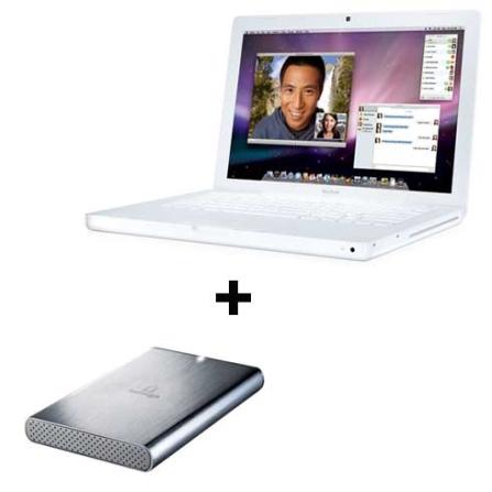 MacBook Core2Duo / 2GB Apple + HD Externo Iomega, AP