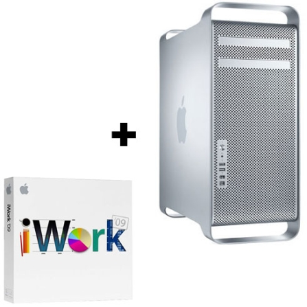 Mac Pro com Intel Xeon 5400 Quad-Core / Memória 2GB / HD 320GB / Super Drive / Mac OS X v10.5 Leopard + iWork '09 Retail, AP