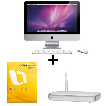 (MB950)iMac com Processador Intel®Core2 Duo  / 4GB / HD 500GB / 21.5