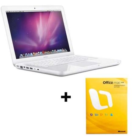 MacBook White Core2Duo / 2GB Apple + Office Mac, AP