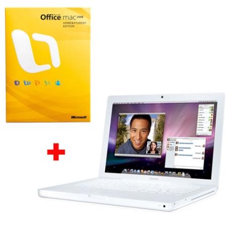 MacBook White com Processador Intel® Core 2 Duo 2.13 GHz / 2GB / HD 160GB / DVD-RW / Tela 13.3