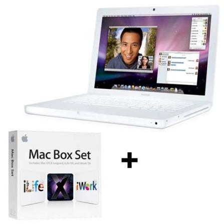MacBook White com Processador Intel® Core 2 Duo 2.13 GHz / 2GB / HD 160GB / Tela 13.3