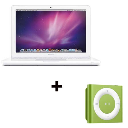 MacBook White Core 2 Duo + iPod shuffle 2GB Apple, AP