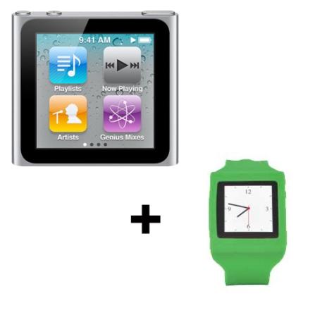 iPod Nano Touch 8GB Apple + Capa Relógio Mobimax, AP