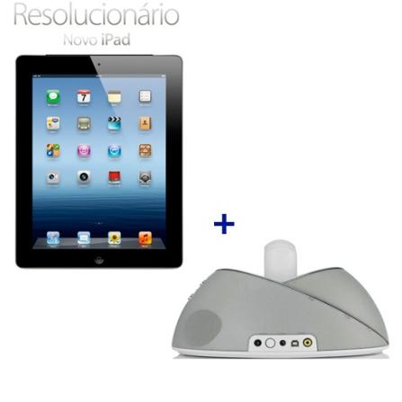 Novo iPad Preto MC705BZA com 16GB de Memória, Tela Retina Multi-Touch 9.7