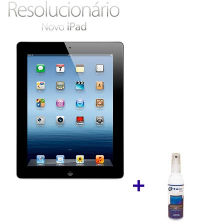 Novo iPad Preto MC705BZA com 16GB, Wi-Fi, 5.0MP