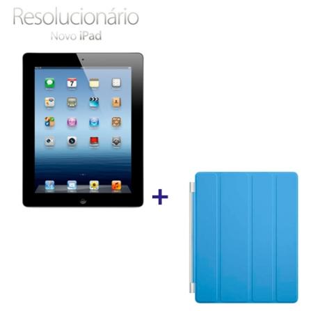 Novo iPad Preto MC706BZA com 32GB, Tela Retina Multi-Touch 9.7