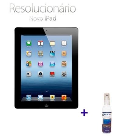 Novo iPad Preto MC706BZA com 32GB de Memória, Tela Retina Multi-Touch 9.7