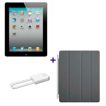 iPad 2 Preto 16GB e Wi-Fi, Receptor de TV e Capa