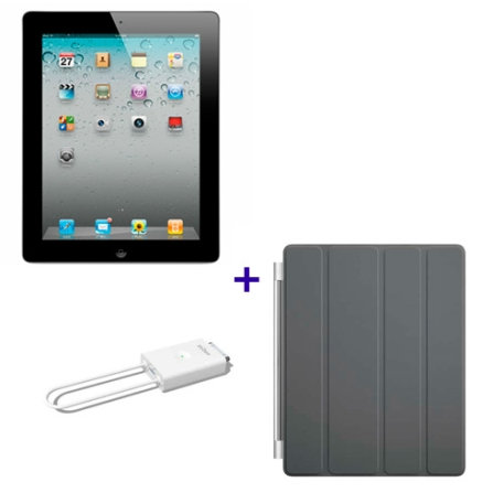 iPad 2 Preto 16GB e Wi-Fi+3G, Receptor de TV, Capa